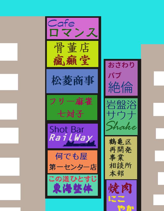 雑居ビルの看板